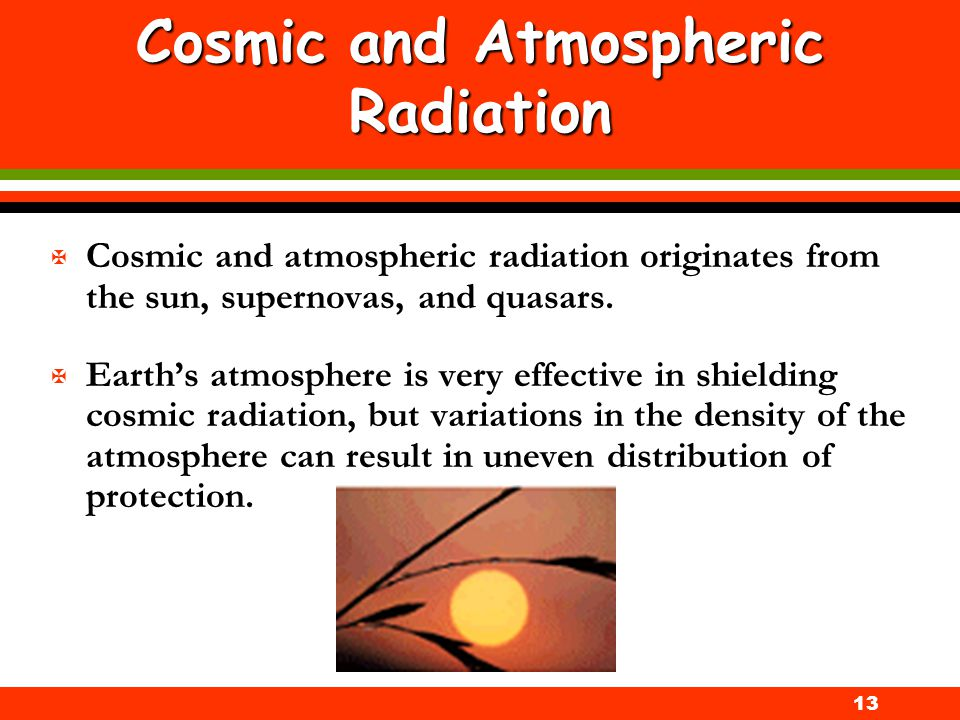 Cosmic and Atmospheric Radiation