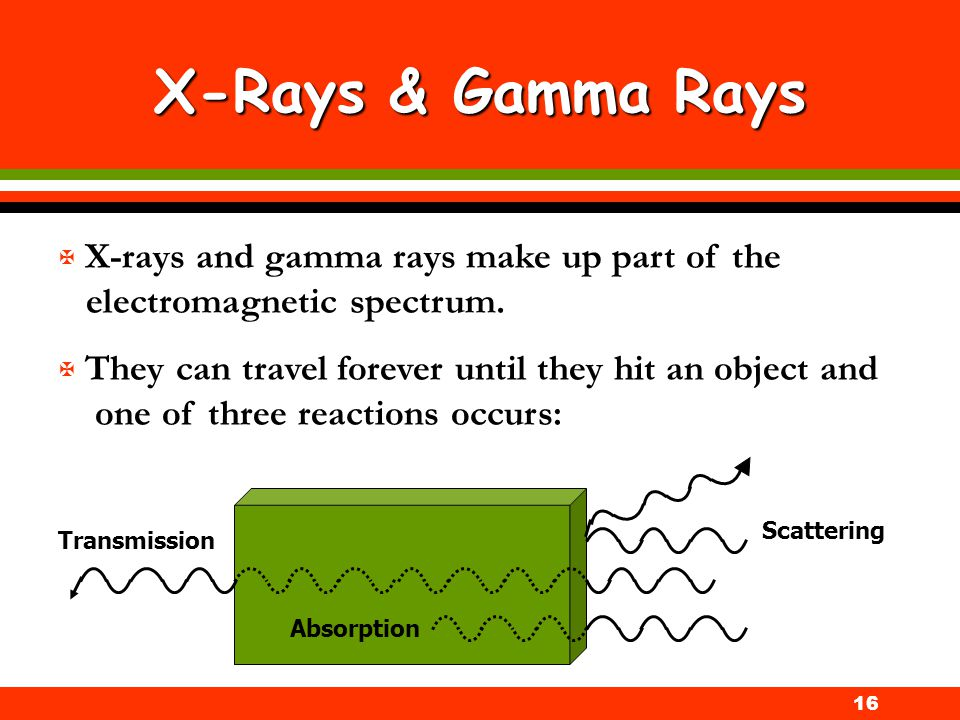 X-Rays & Gamma Rays X-rays and gamma rays make up part of the