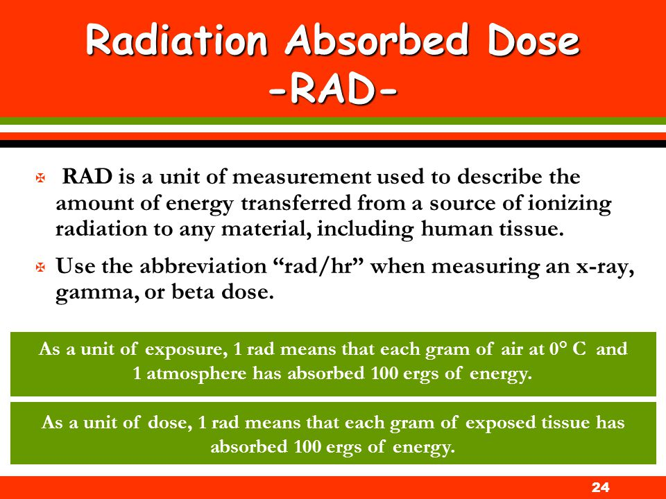 Radiation Absorbed Dose -RAD-
