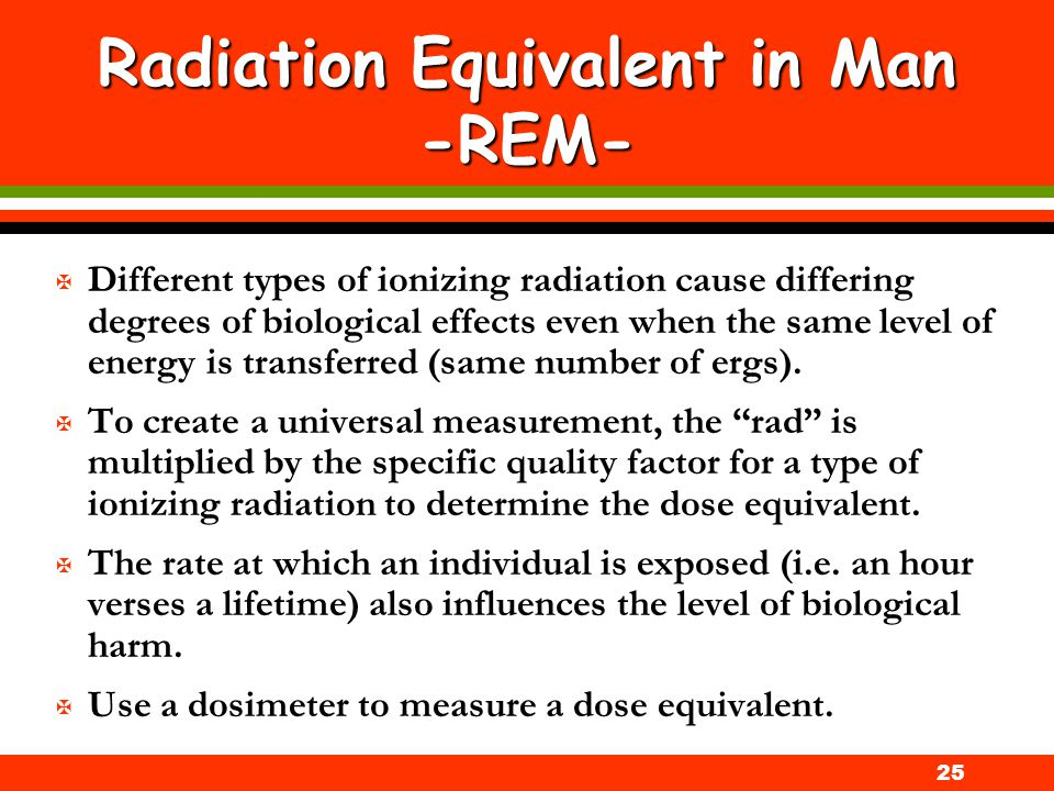 Radiation Equivalent in Man -REM-