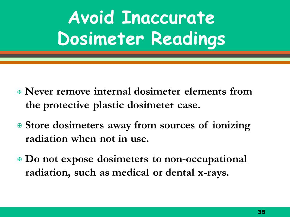 Avoid Inaccurate Dosimeter Readings
