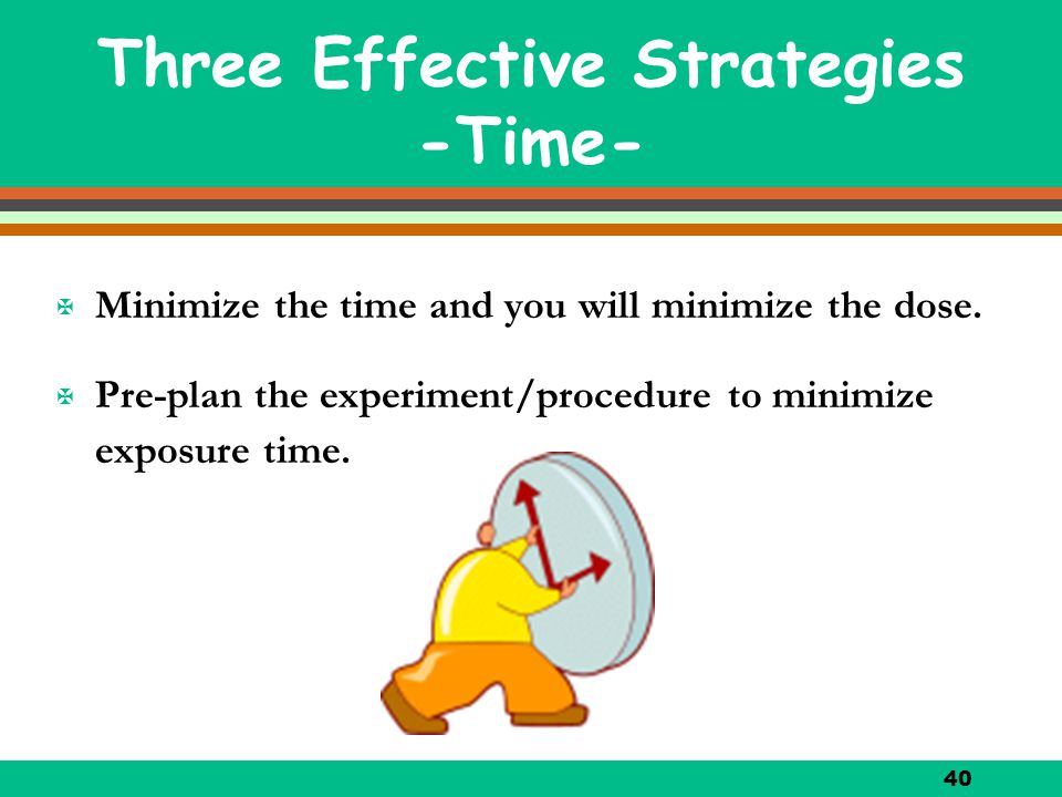 Three Effective Strategies -Time-