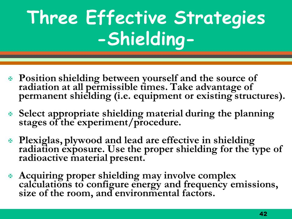 Three Effective Strategies -Shielding-