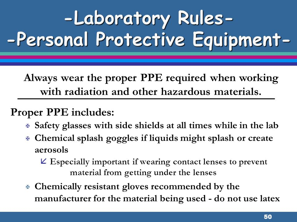 -Laboratory Rules- -Personal Protective Equipment-