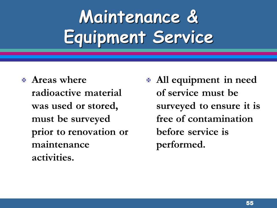 Maintenance & Equipment Service