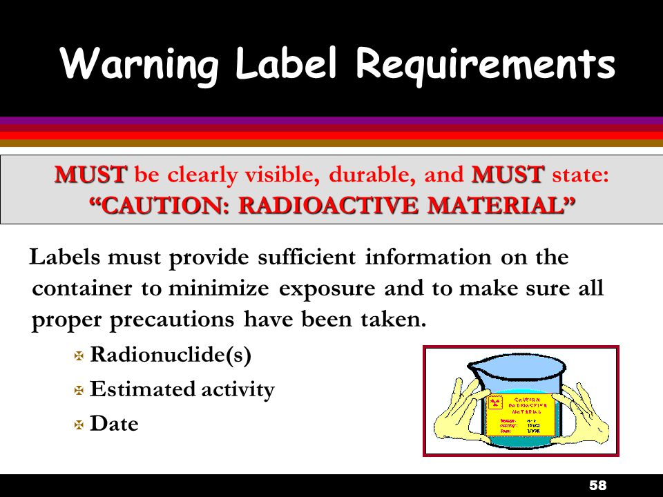 Warning Label Requirements