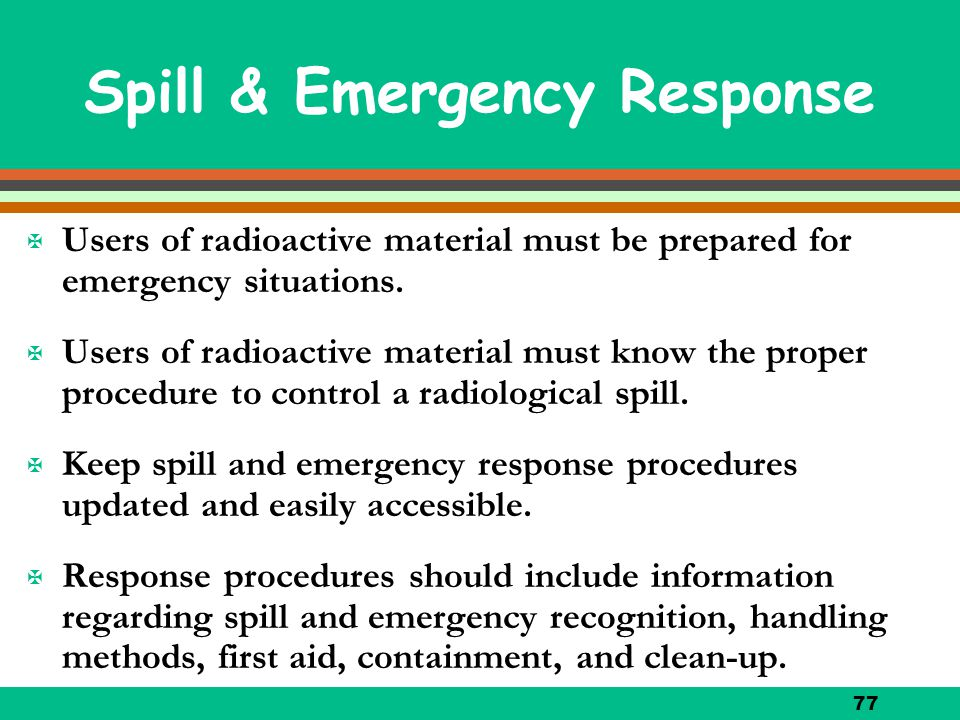 Spill & Emergency Response
