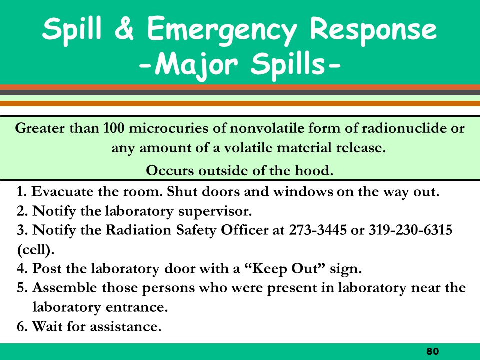 Spill & Emergency Response -Major Spills-