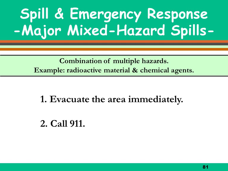 Spill & Emergency Response -Major Mixed-Hazard Spills-