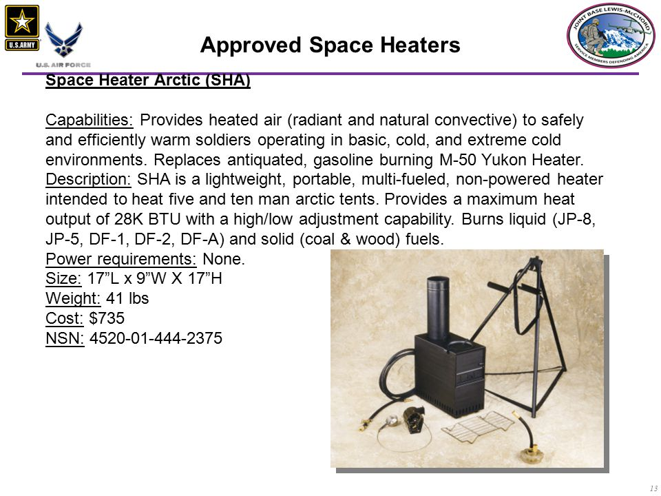 Approved Space Heaters