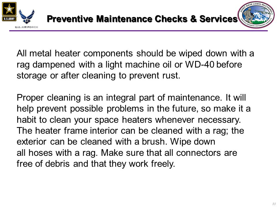 Preventive Maintenance Checks & Services