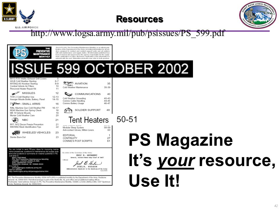 PS Magazine It's your resource, Use It! Resources