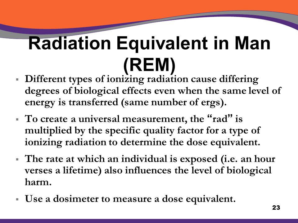 Radiation Equivalent in Man (REM)