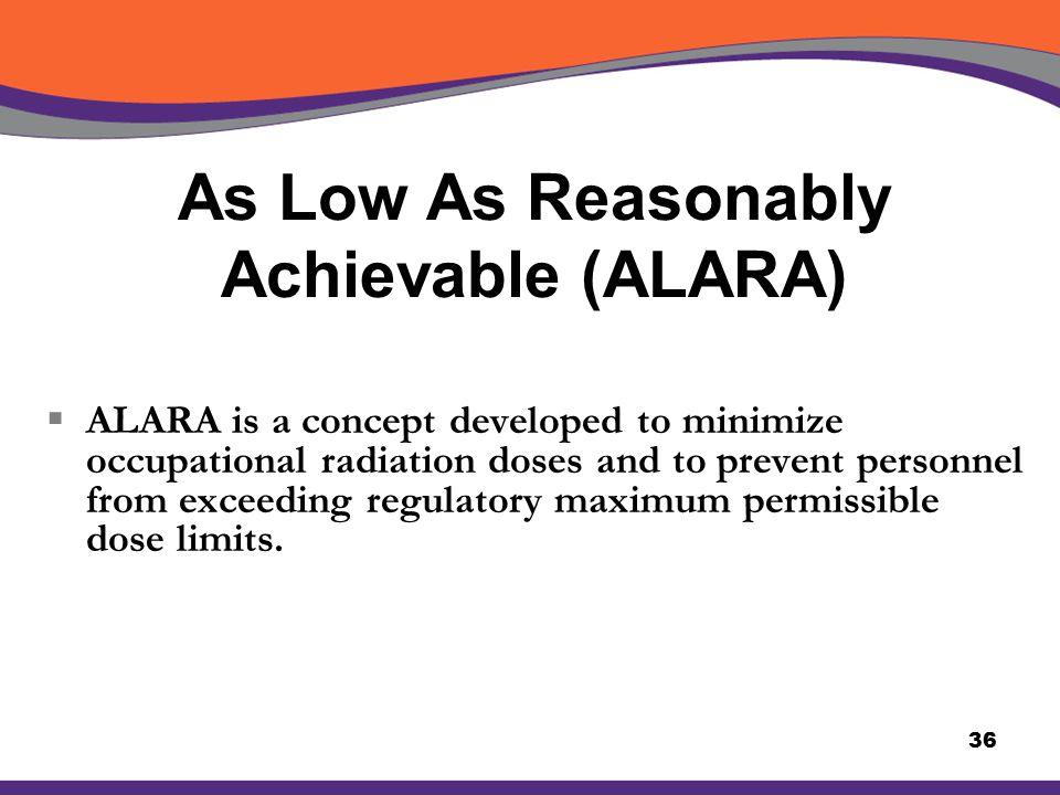 As Low As Reasonably Achievable (ALARA)