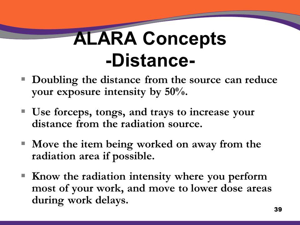 ALARA Concepts -Distance-