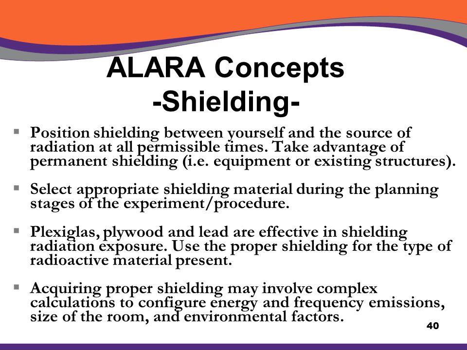 ALARA Concepts -Shielding-