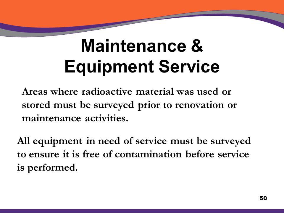 Maintenance & Equipment Service