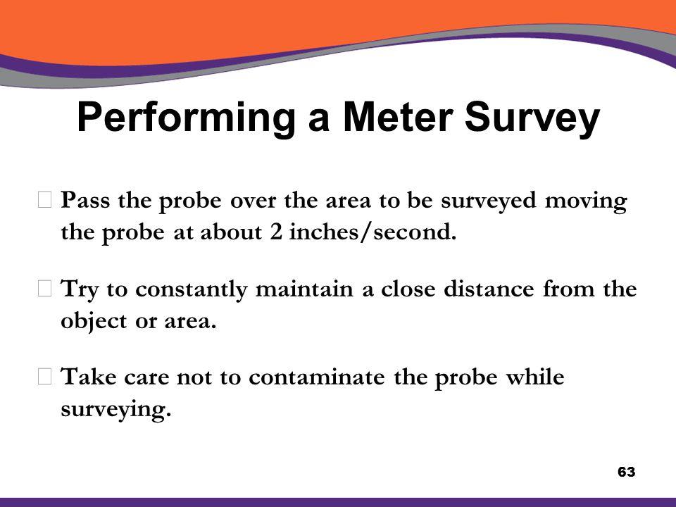 Performing a Meter Survey