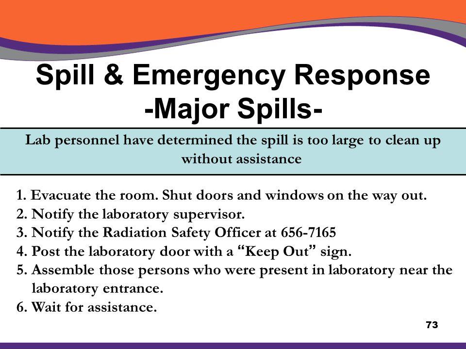 Spill & Emergency Response -Major Spills-