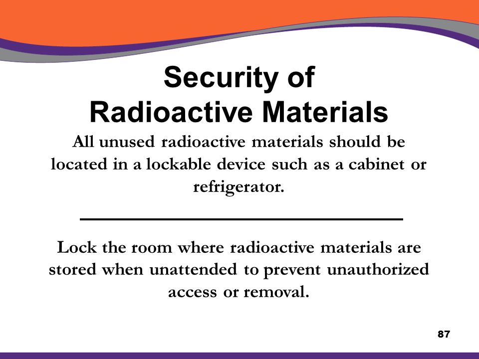 Security of Radioactive Materials