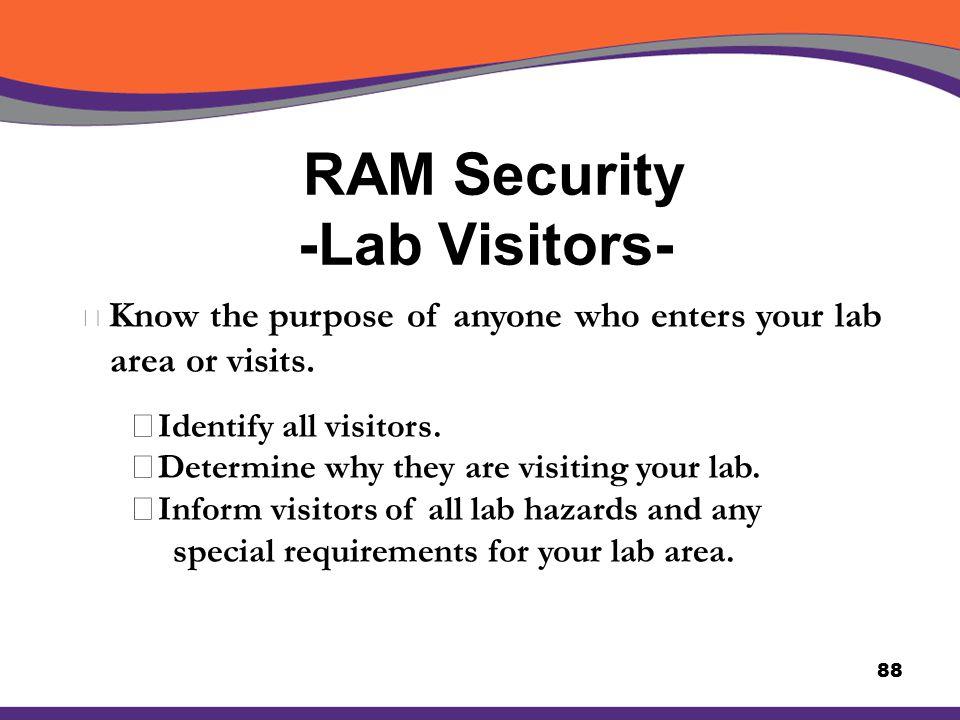 RAM Security -Lab Visitors-