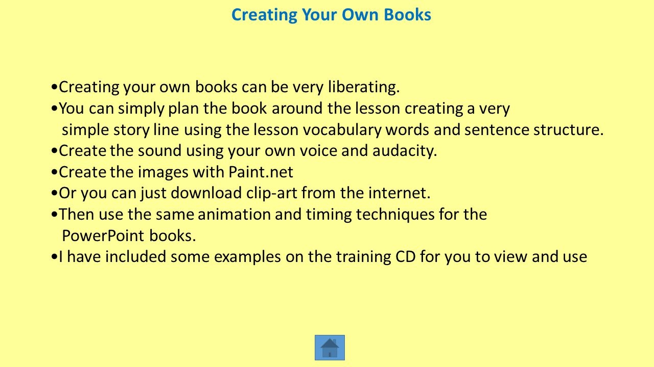 Creating Your Own Books
