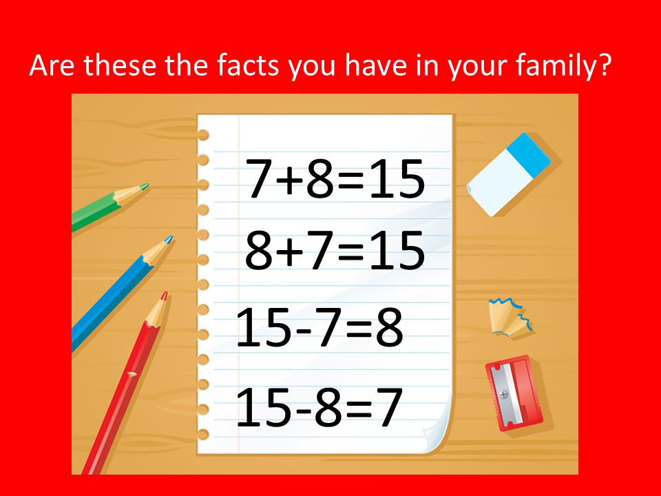 Are these the facts you have in your family