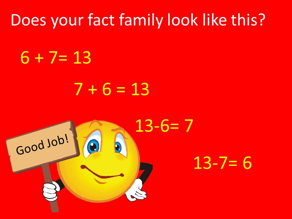 Does your fact family look like this