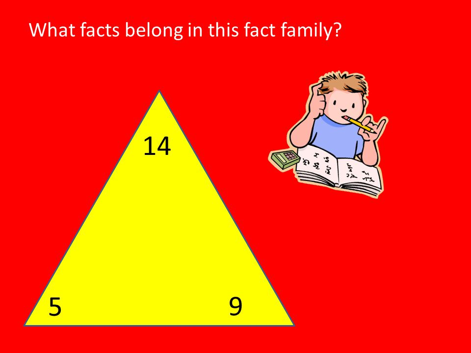 What facts belong in this fact family