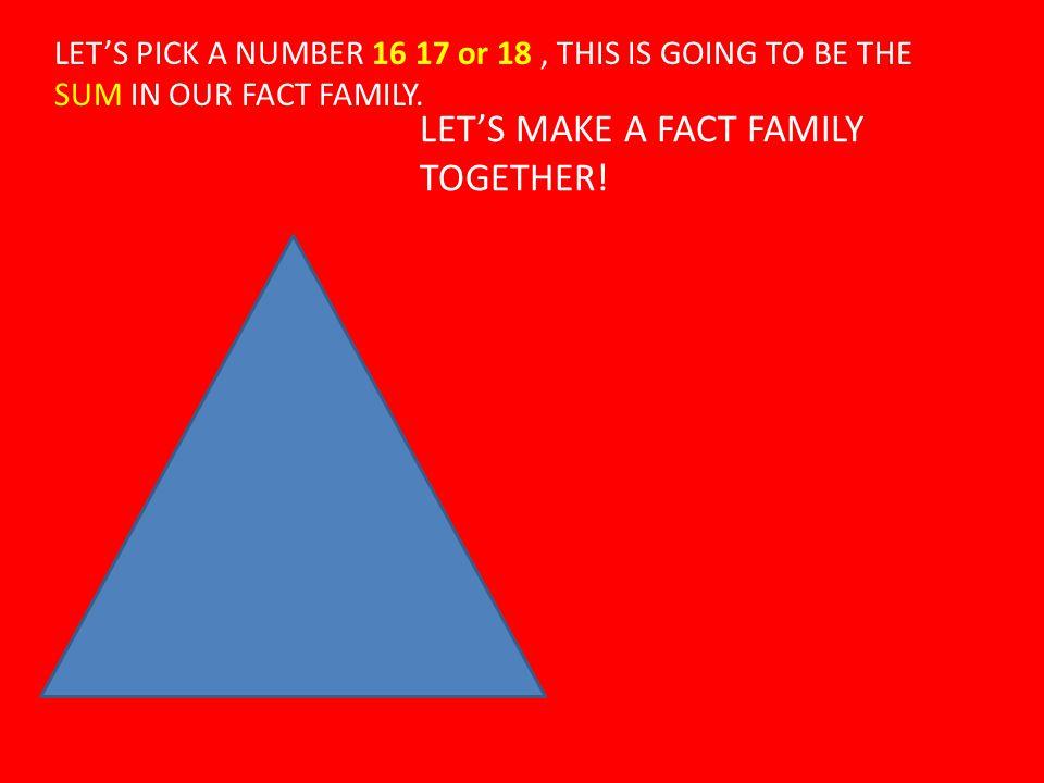 LET'S MAKE A FACT FAMILY TOGETHER!