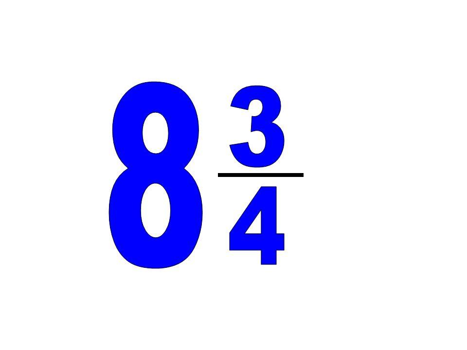 8 3 4
