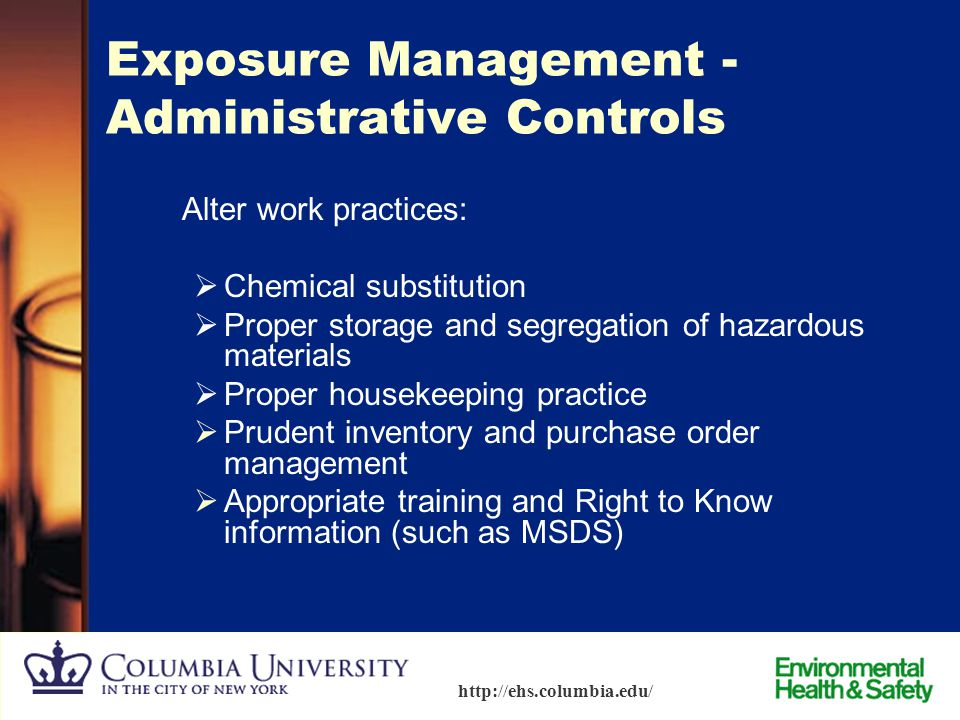 Exposure Management - Administrative Controls