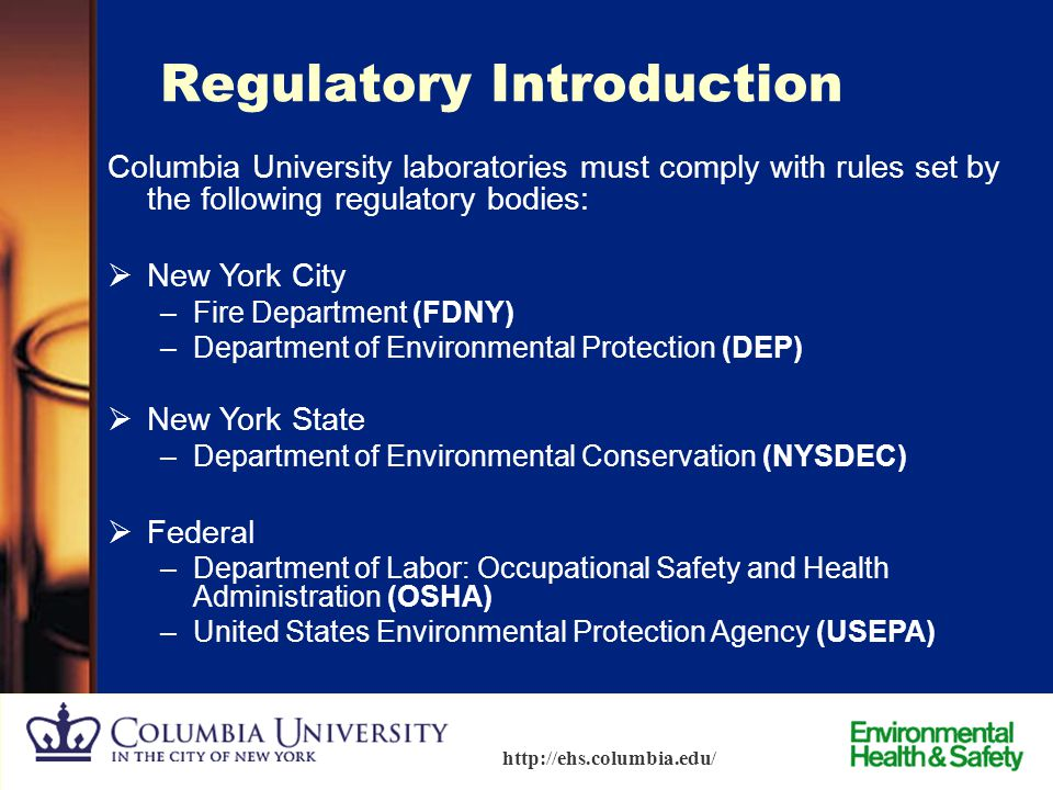 Regulatory Introduction
