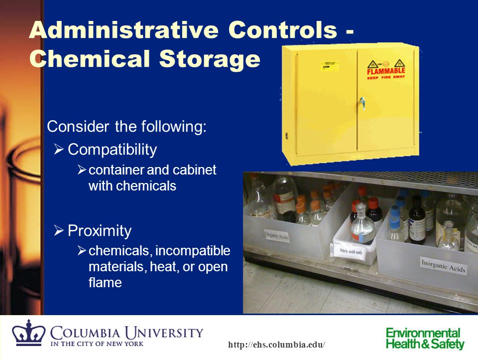 Administrative Controls - Chemical Storage