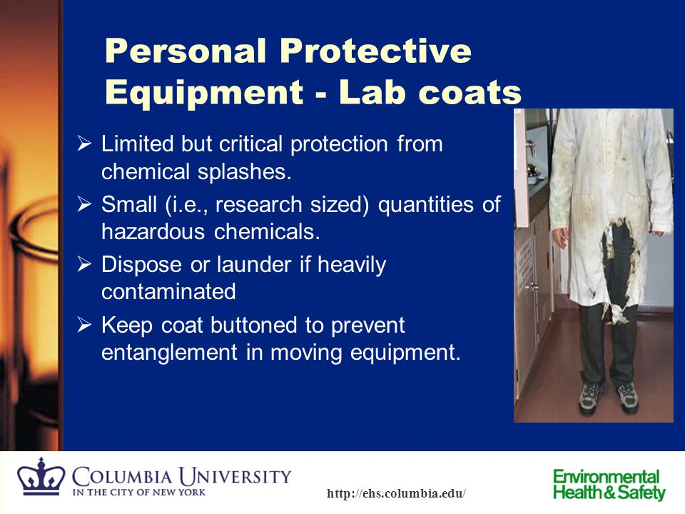 Personal Protective Equipment - Lab coats