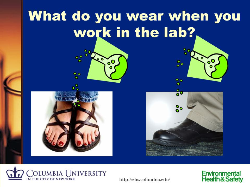 What do you wear when you work in the lab