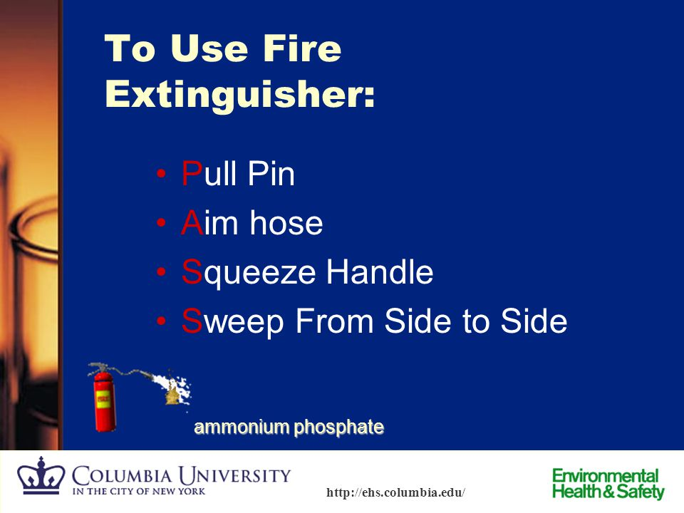 To Use Fire Extinguisher: