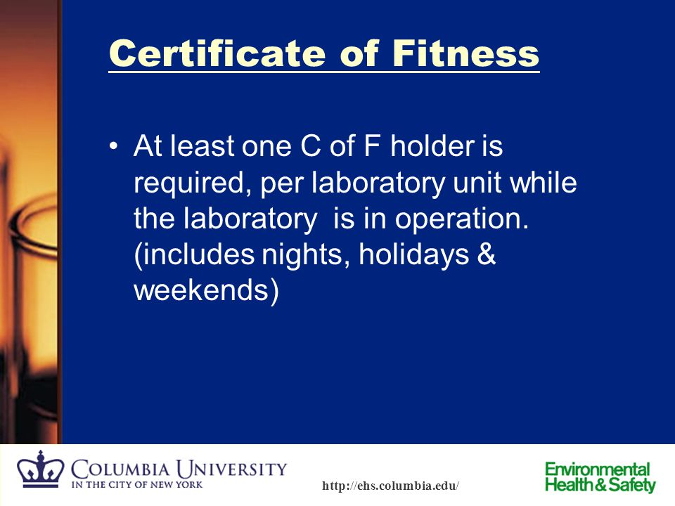 Certificate of Fitness