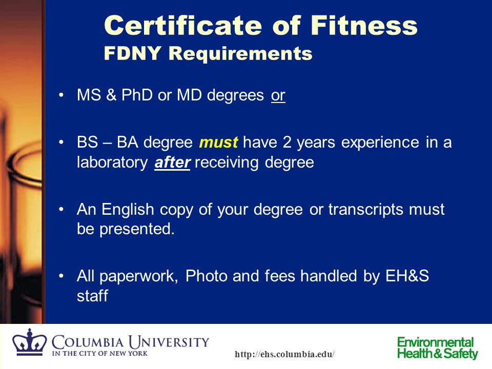 Certificate of Fitness FDNY Requirements
