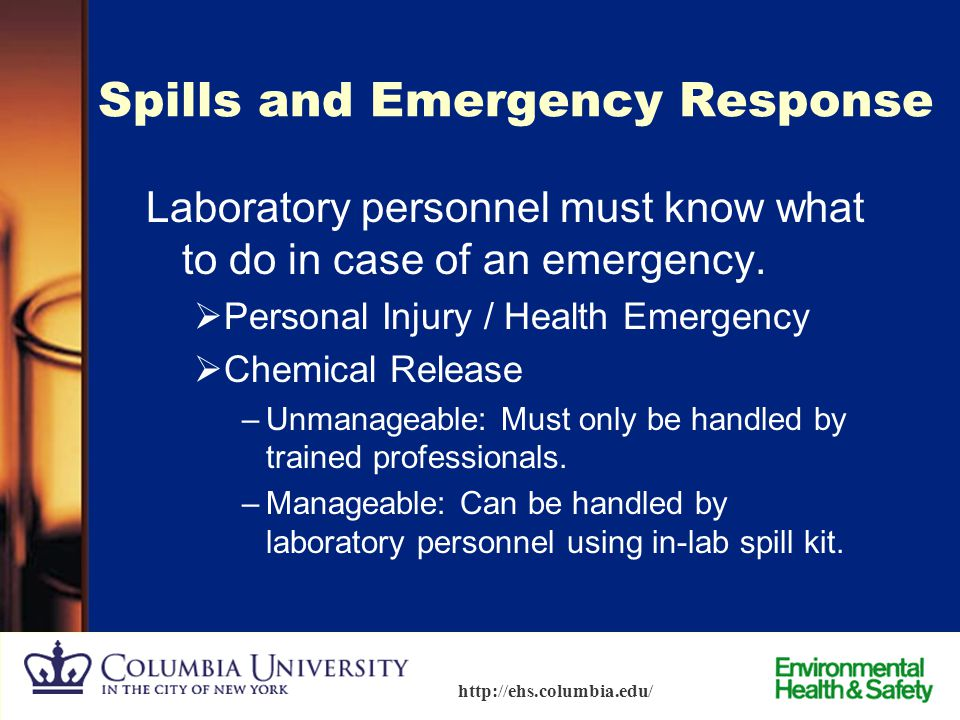 Spills and Emergency Response