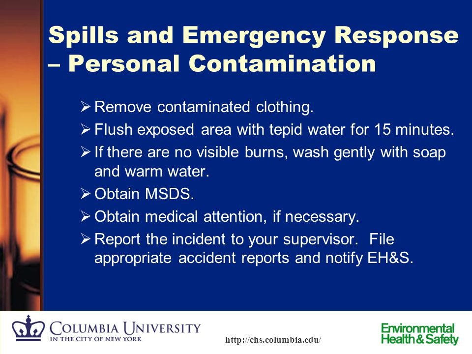 Spills and Emergency Response – Personal Contamination