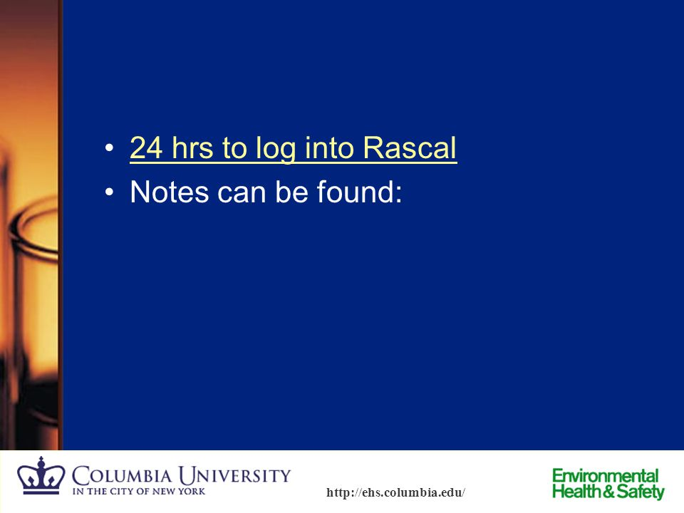 24 hrs to log into Rascal Notes can be found: