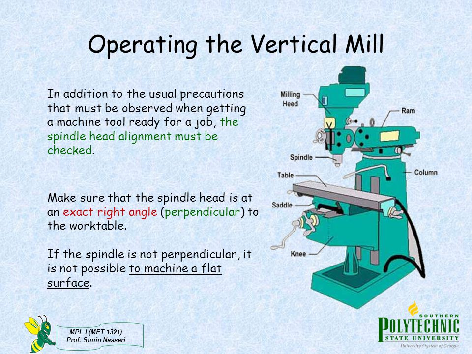 Operating the Vertical Mill