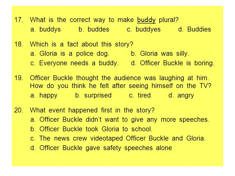 What is the correct way to make buddy plural
