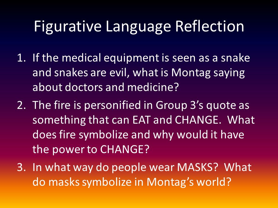 Figurative Language Reflection