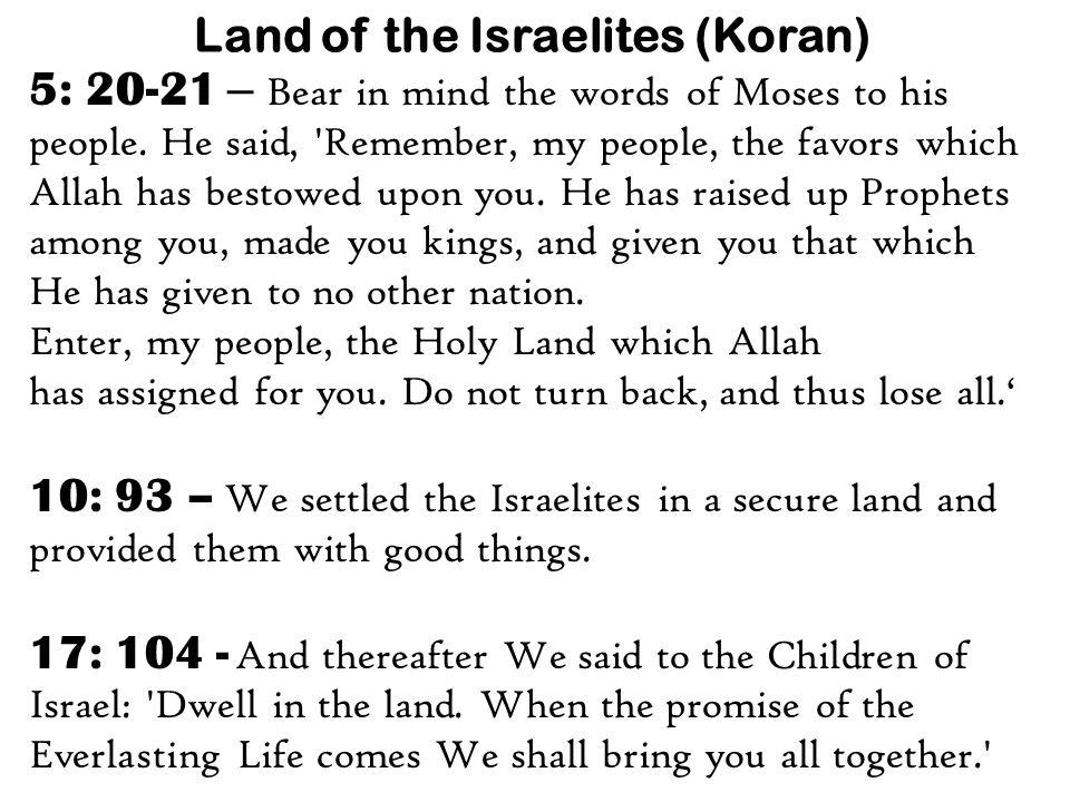 Land of the Israelites (Koran)