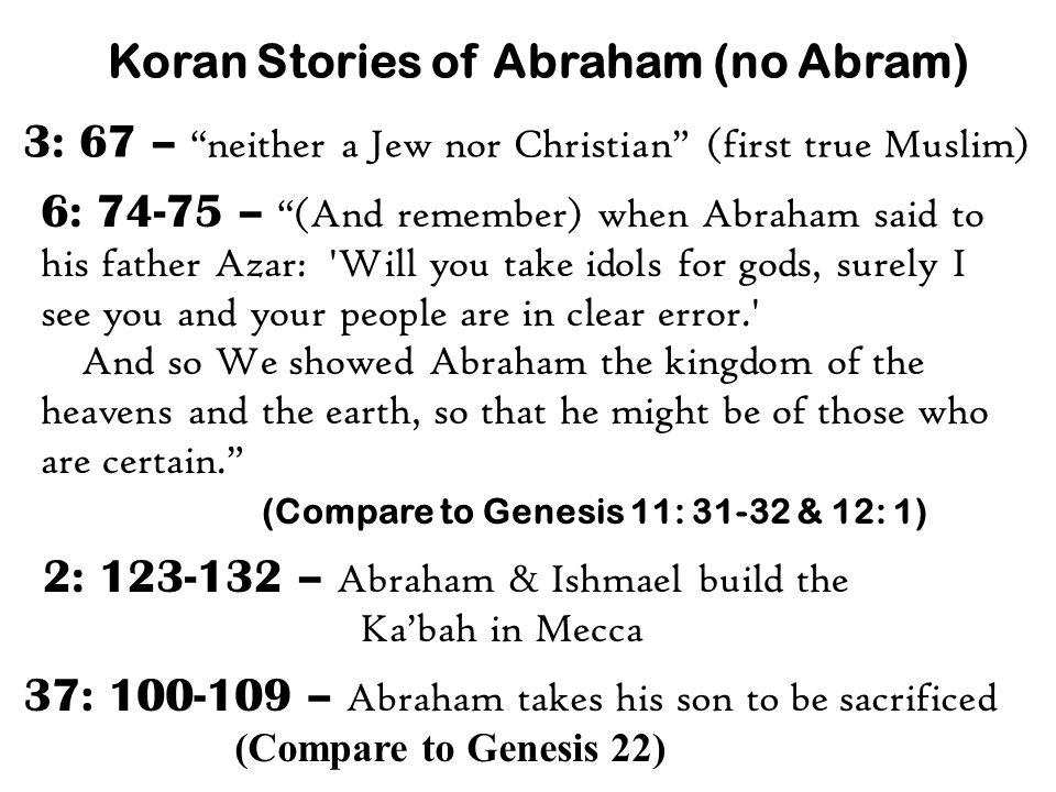 Koran Stories of Abraham (no Abram)