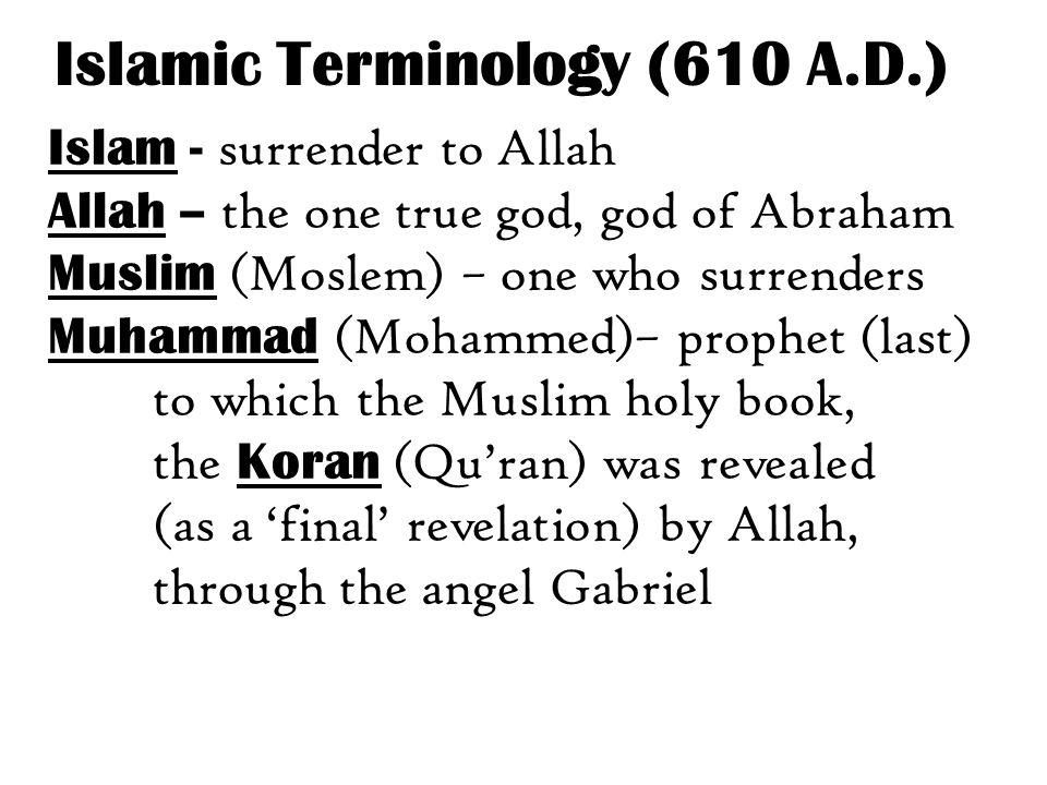 Islamic Terminology (610 A.D.)