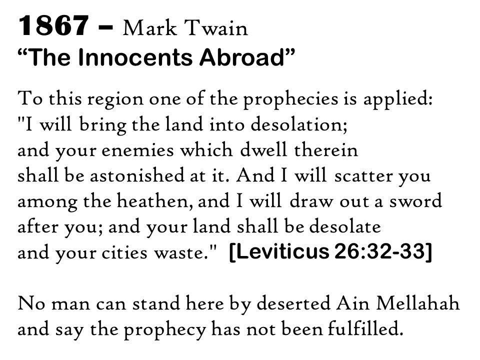 1867 – Mark Twain The Innocents Abroad