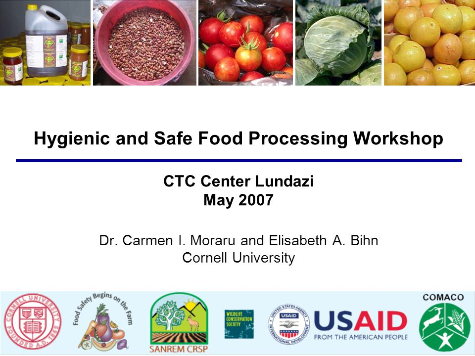 Hygienic and Safe Food Processing Workshop